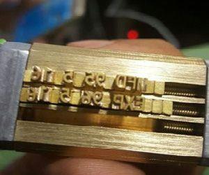 حروف برنجی دستگاه تاریخ زن دستی
